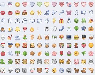 Icon ngộ nghĩnh cho status và comment facebook giúp bài viết bắt mắt hơn